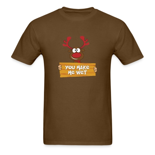 Red Christmas Horny Reindeer 5 - Men's T-Shirt