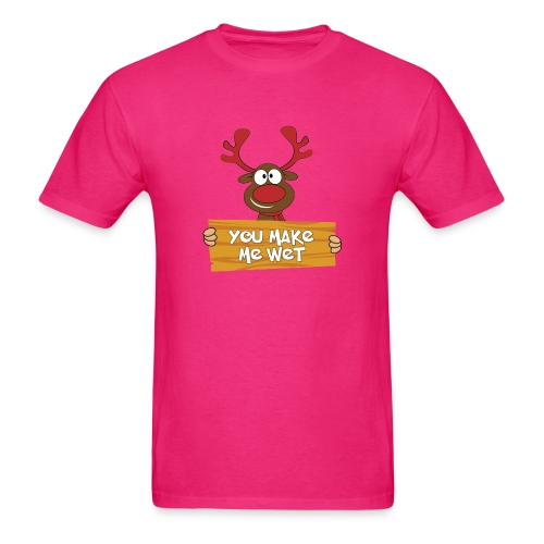 Red Christmas Horny Reindeer 5 - Men's T-Shirt