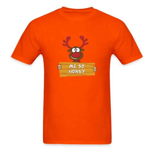 Red Christmas Horny Reindeer 3 - Men's T-Shirt