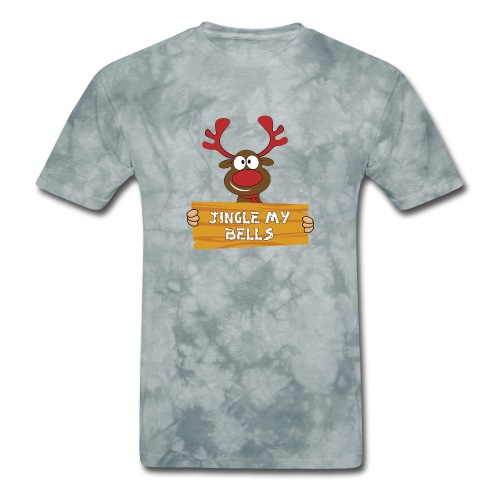 Red Christmas Horny Reindeer 1 - Men's T-Shirt