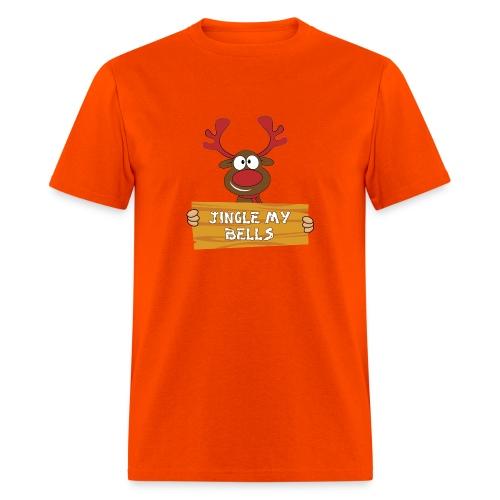 Red Christmas Horny Reindeer 1 - Men's T-Shirt