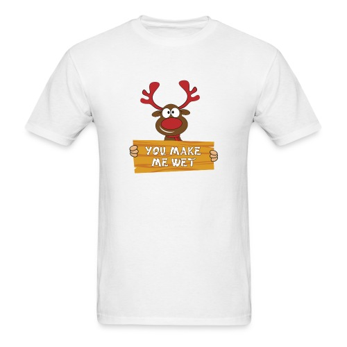 Red Christmas Horny Reindeer 2 - Men's T-Shirt