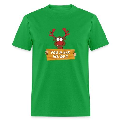 Red Christmas Horny Reindeer 2 - Men's T-Shirt