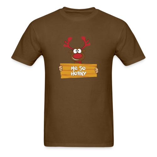 Red Christmas Horny Reindeer 6 - Men's T-Shirt