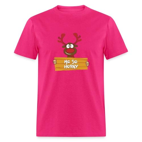 Red Christmas Horny Reindeer 6 - Men's T-Shirt
