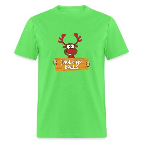 Red Christmas Horny Reindeer 4 - Men's T-Shirt
