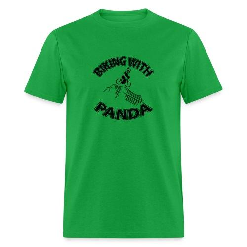 Biking with Panda - Men's T-Shirt