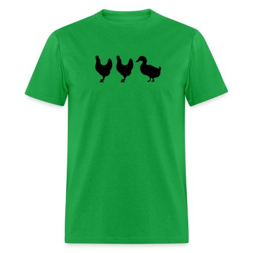 abduckted chickens - Men's T-Shirt