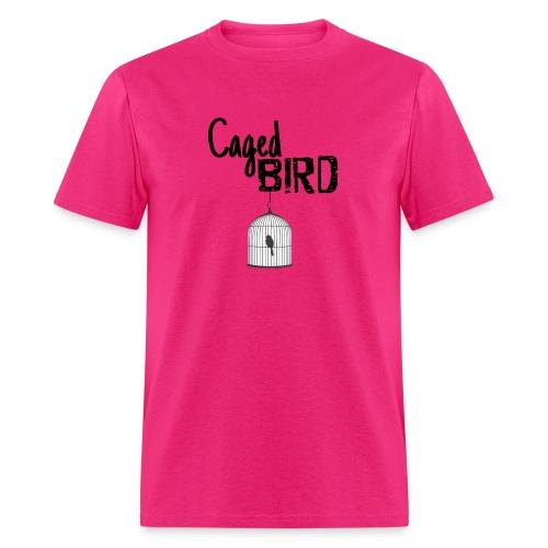 Caged Bird Abstract Design - Men's T-Shirt