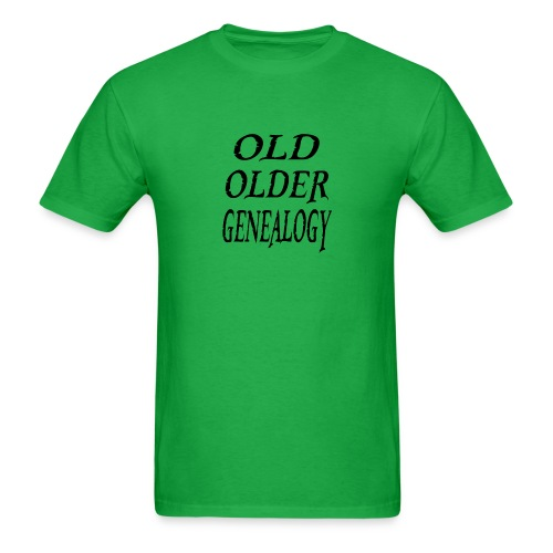 Old older genealogy family tree funny gift - Men's T-Shirt