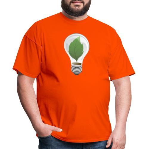 Clean Energy Green Leaf Illustration - Men's T-Shirt