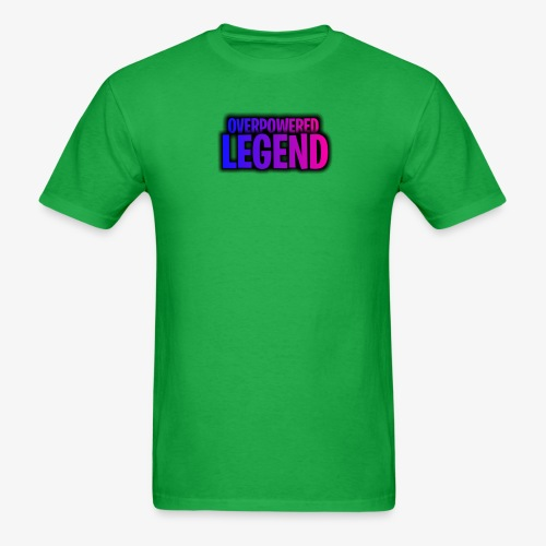 OverPoweredLegend: Purple Gradient - Men's T-Shirt
