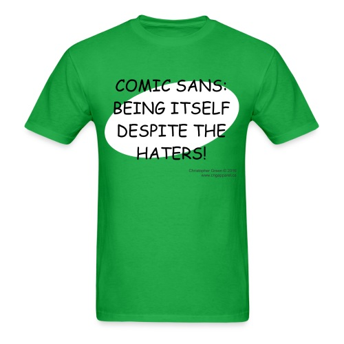 Comic Sans png - Men's T-Shirt