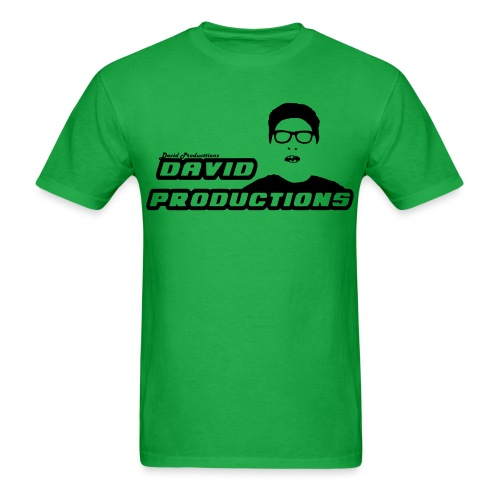 David Productions (CHANGEABLE COLOR LOGO) - Men's T-Shirt