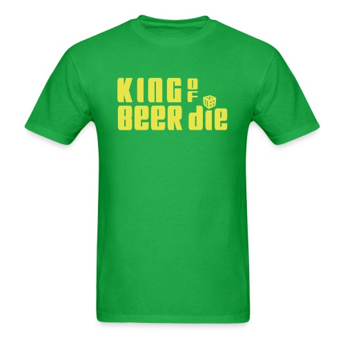 KING OF BEER DIE (Yellow) - Men's T-Shirt
