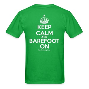 Keep Calm and Barefoot On - Men's T-Shirt