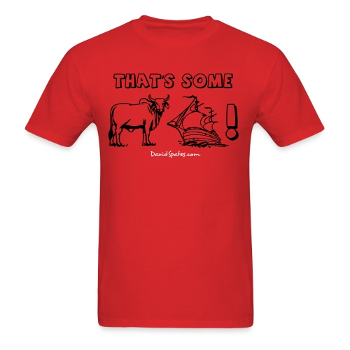 bullship outline text - Men's T-Shirt