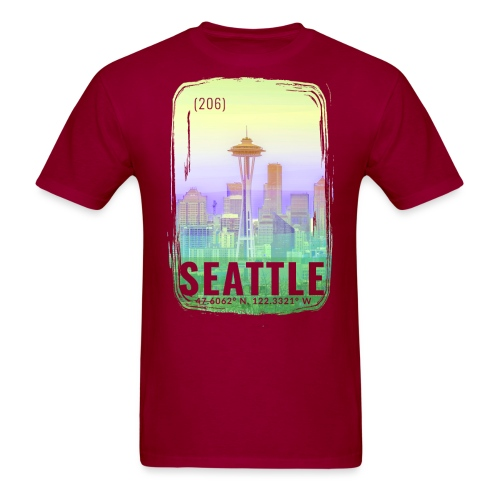 city of seattle png - Men's T-Shirt