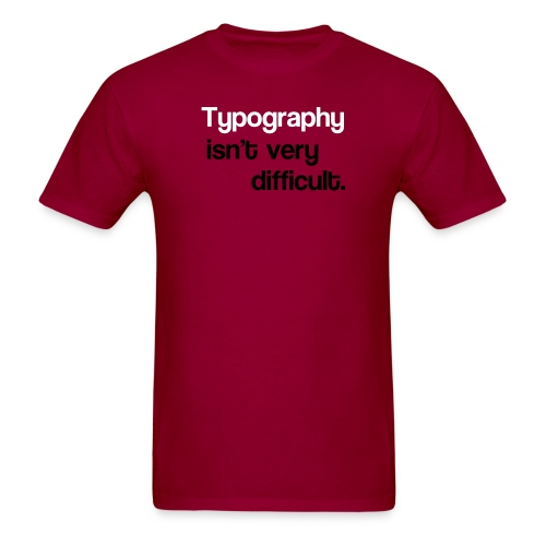 typography2 - Men's T-Shirt