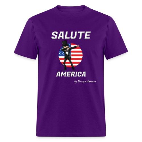 SALUTE AMERICA WHITE - Men's T-Shirt