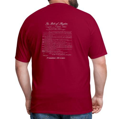 US Bill of Rights Grey Lettering - Men's T-Shirt
