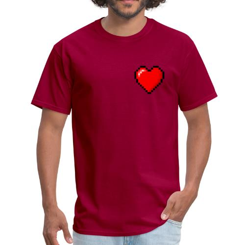 Pixelated Heart - Men's T-Shirt