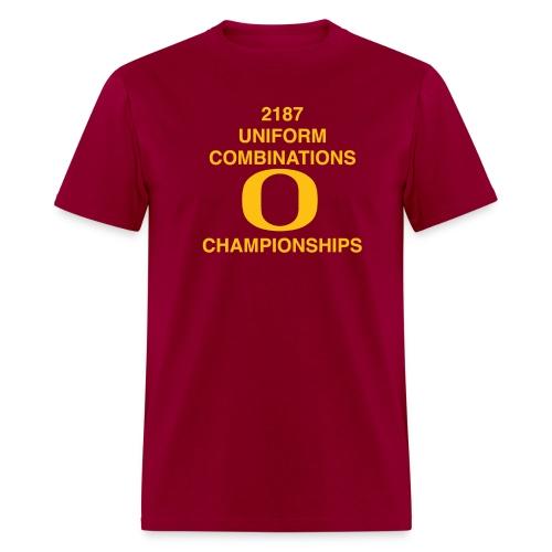 2187 UNIFORM COMBINATIONS O CHAMPIONSHIPS - Men's T-Shirt