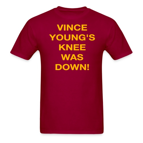 Vince Young's Knee Was Down - Men's T-Shirt