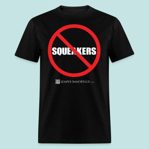 No Squeakers (white) - Men's T-Shirt
