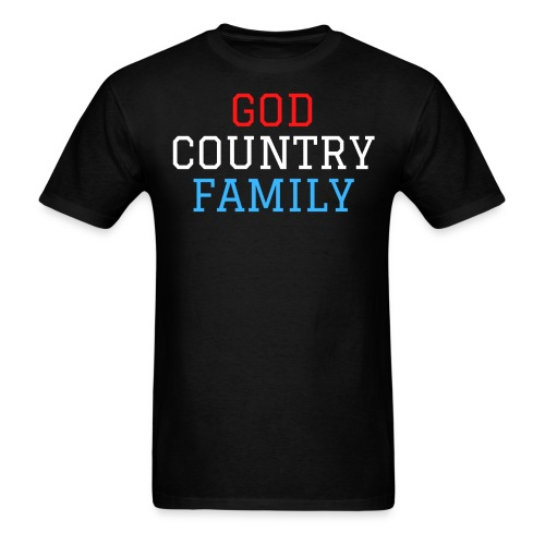 GOD COUNTRY FAMILY (Red, White, and Blue) - Men's T-Shirt