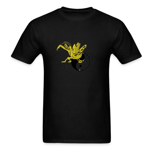 Yellow mantis yin yang - Men's T-Shirt