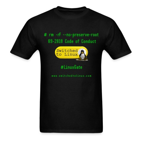 rm Linux Code of Conduct - Men's T-Shirt