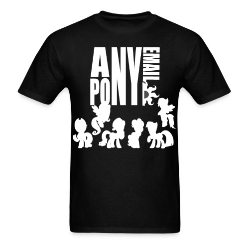 anypony email design 12 - Men's T-Shirt