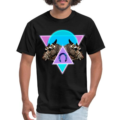 Neon Horses print - Men's T-Shirt