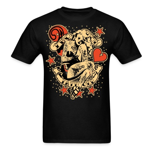 Screwed & tattooed Pin Up Zombie - Men's T-Shirt