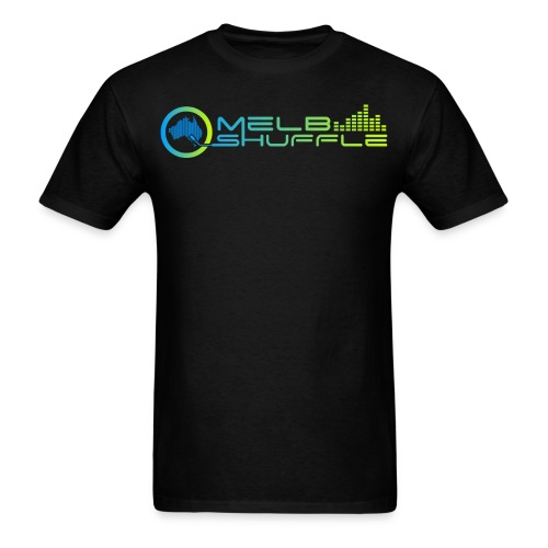 Melbshuffle Gradient Logo - Men's T-Shirt