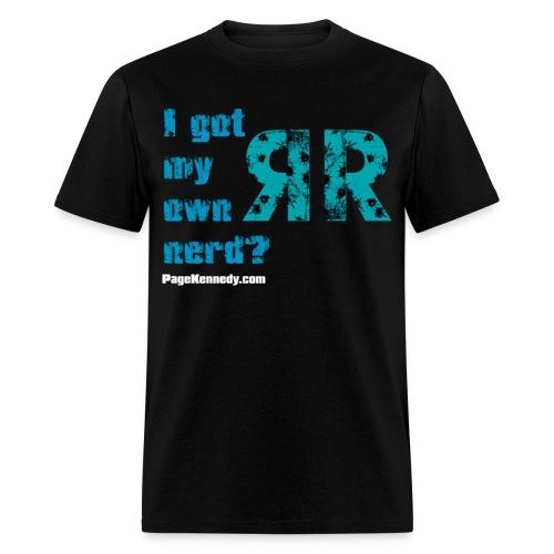 nerd rr blue - Men's T-Shirt