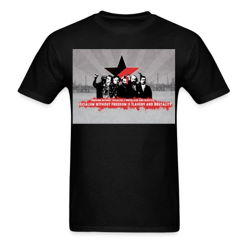 freedom without socialism - Men's T-Shirt