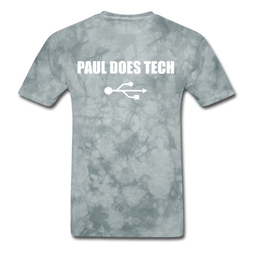 Paul Does Tech White Logo With USB - Men's T-Shirt