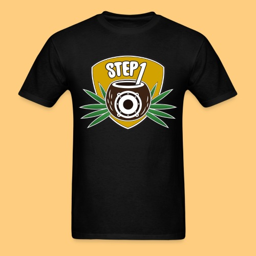 Step One Logo (Yellow) - Men's T-Shirt