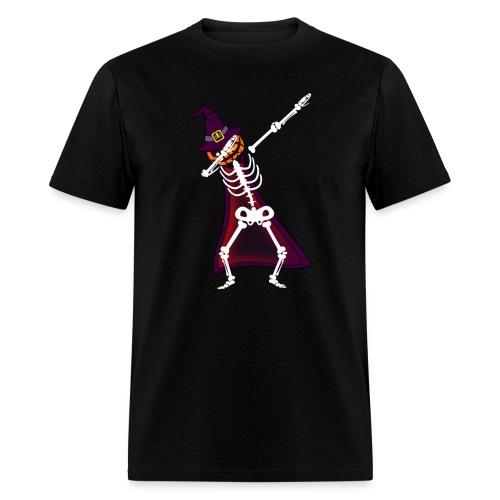 Dabbing Pumpkin Witcher Skeleton Halloween T-shirt - Men's T-Shirt