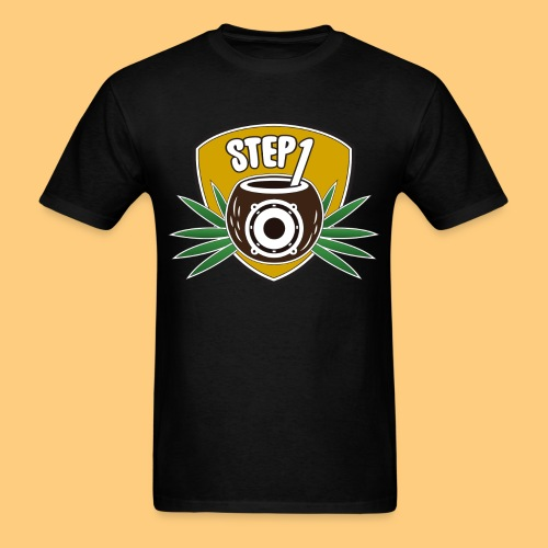 Step One Logo (Yellow) - Men's T-Shirt