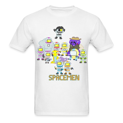 all the spacemen png - Men's T-Shirt