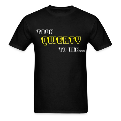 Talk QWERTY - Men's T-Shirt
