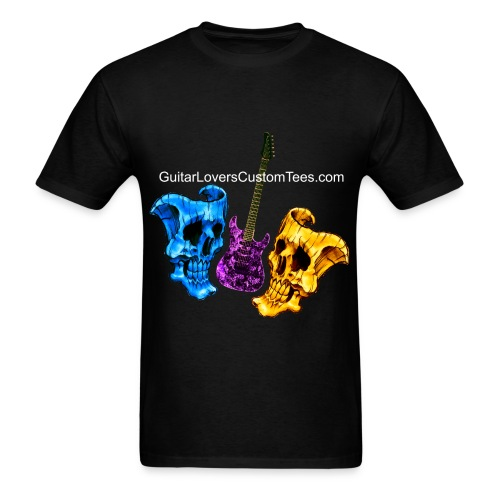 Guitar and Skull Masks - Men's T-Shirt