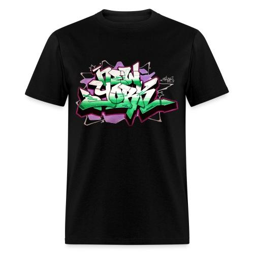 RANGE - Design for New York Graffiti Color Logo - Men's T-Shirt