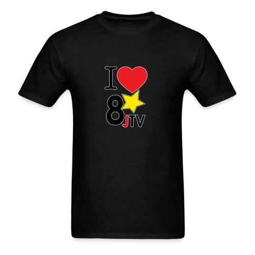 I love 8JTV png - Men's T-Shirt