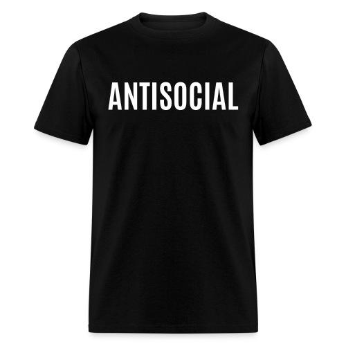 ANTISOCIAL (white letters version) - Men's T-Shirt