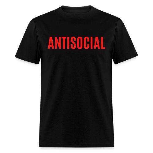Antisocial (red letters version) - Men's T-Shirt