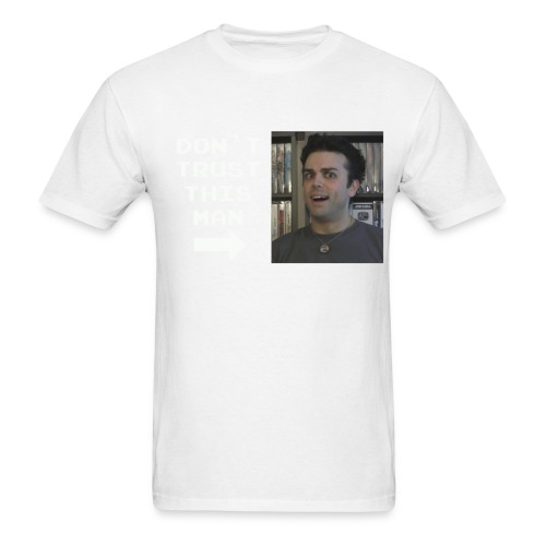 do not trust pat shirt white letters - Men's T-Shirt
